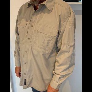 5.11 Tactical Long Sleeve Button Down Shirt Sz L